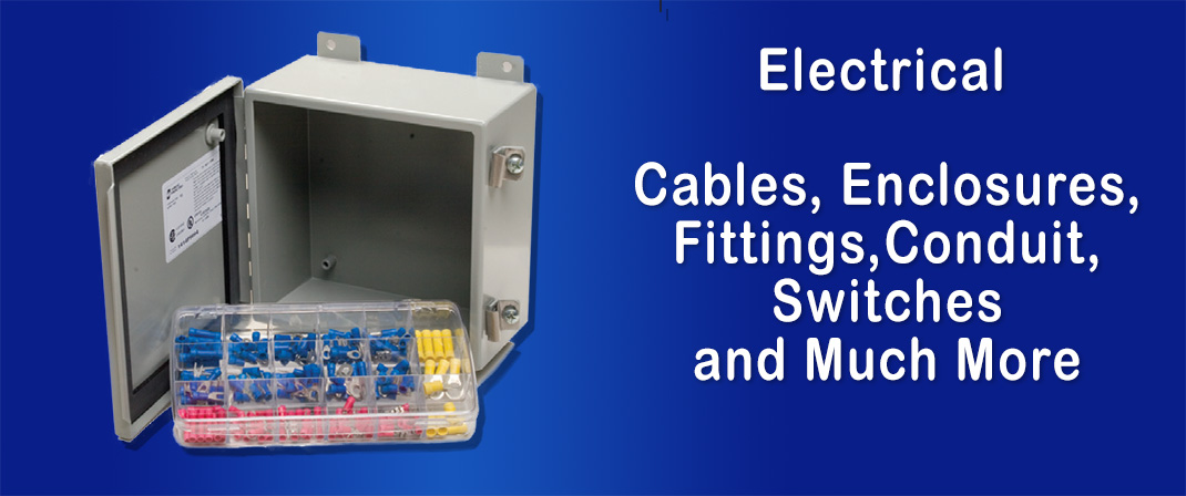 Electrical Cables, Enclosures, Fittings, Conduit, Switches and Much More | Fluidline Components