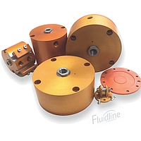 Fabco-Air Orange Anodized Pancake Cylinders and Accessories Clearance